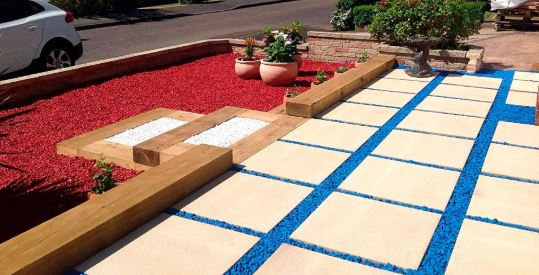 piedras rojas jardin